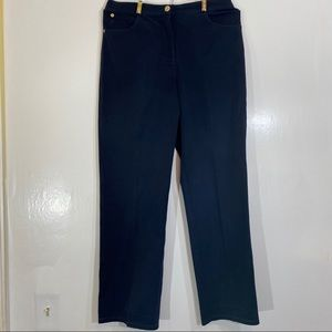 St. John Sport Black & Gold Pants Size 6